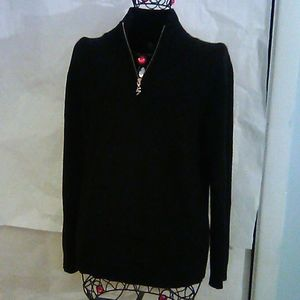 Bogner Cashmere Black 3/4 Zip Sweater M